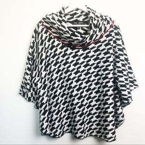 Fever Knit Poncho. Aztec Design. Size S/M